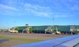 Aérodrome d'aéroport de Barcelone Image stock