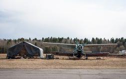 Aérodrome de Seltso Photo libre de droits