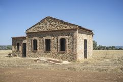 Aérodrome historique de Saceruela, employé par aviation républicaine dans l'envergure Images libres de droits
