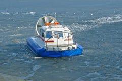 Aéroglisseur sur la glace Photo libre de droits