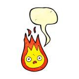 aérolithe amical de bande dessinée avec la bulle de la parole Image stock