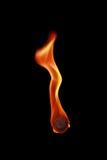 aérolithe avec la flamme d'isolement sur le noir Image libre de droits
