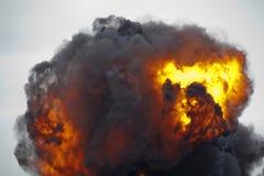 Aérolithe d'explosion Images libres de droits