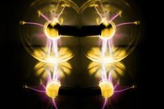 Aérolithe de l'électricité Photo abstraite des vagues électriques Photographie stock libre de droits