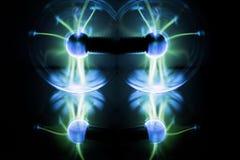 Aérolithe de l'électricité Photo abstraite des vagues électriques Image stock