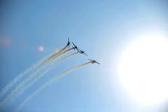 Aéronefs acrobatiques Photos libres de droits