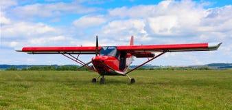 Aéronefs atterris Photographie stock libre de droits