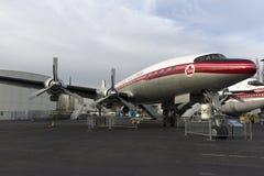 Aéronefs avant âge d'avion à réaction Image stock