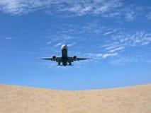 Aéronefs Ciel Plage Image libre de droits