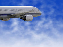 Aéronefs civils Photos libres de droits