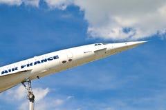 Aéronefs Concorde dans le musée Image libre de droits