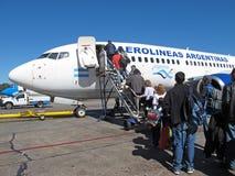 Aéronefs d'Aerolineas Argentinas Images libres de droits