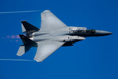 Aéronefs d'aigle de grève de Boeing F-15E Photos libres de droits