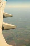 Aéronefs d'aile dans le ciel Photographie stock