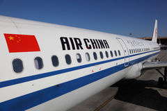 Aéronefs d'Air China Photo libre de droits