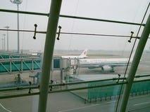 Aéronefs d'Air China stationnés dans le tablier Photographie stock