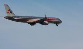 Aéronefs d'American Airlines Images libres de droits