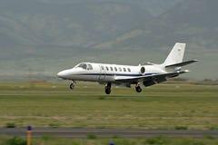 Aéronefs d'atterrissage Photos libres de droits