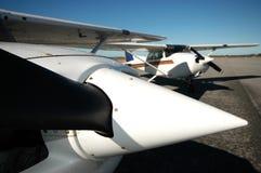 Aéronefs d'aviation générale Images libres de droits
