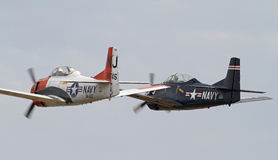 Aéronefs d'avion-école de la deuxième guerre mondiale T-28 Photo stock