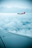 Aéronefs dans le ciel Image libre de droits
