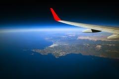 Aéronefs dans le ciel Images stock