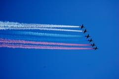 Aéronefs dans le ciel Photo stock