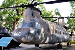 Aéronefs dans le musée de débris de guerre de Vietnam Photographie stock libre de droits