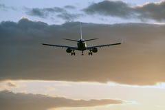 Aéronefs dans les nuages Images libres de droits