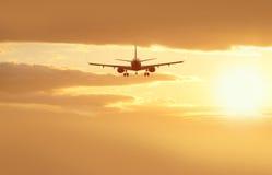 Aéronefs dans les nuages Photo libre de droits
