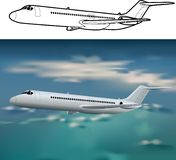 Aéronefs DC-9 illustration de vecteur