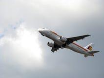 Aéronefs de compagnies aériennes d'Ibérie Photographie stock libre de droits