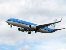 Aéronefs de compagnies aériennes de KLM Photos stock