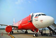 Aéronefs de l'Indonésie AirAsia Images libres de droits