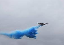 Aéronefs de lutte contre l'incendie Photos stock