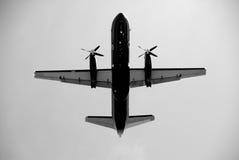 Aéronefs de propulseur en vol Photo stock