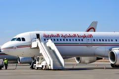 Aéronefs de Royal Air Maroc Image stock