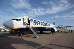 Aéronefs de Ryanair Photo stock