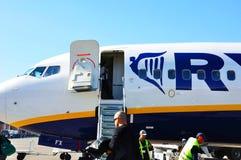 Aéronefs de Ryanair Image libre de droits