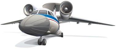 Aéronefs de système aéroporté de détection et de contrôle Photo stock