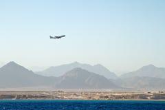 Aéronefs de vol Photos libres de droits