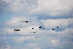 Aéronefs différents Image libre de droits