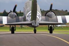 Aéronefs du Dakota de C-47 de Douglas Images libres de droits