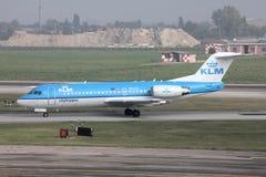 Aéronefs du Fokker 70 de KLM Photographie stock libre de droits