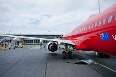 Aéronefs en position de stationnement Photos libres de droits