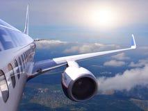 Aéronefs en vol Photographie stock libre de droits