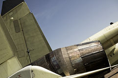 Aéronefs et quille de dispositif de post-combustion Images stock