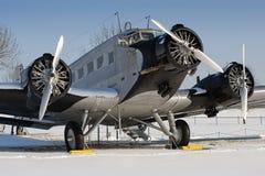 Aéronefs historiques de JU 52 Images libres de droits