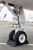 Aéronefs légers avant de train d'atterrissage Image stock