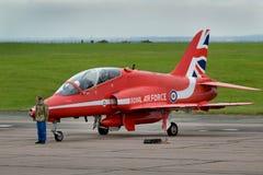 Aéronefs rouges de faucon de flèche Photos stock